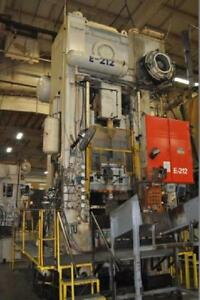 1000 TON BLISS SSSC PRESS 20″ STROKE 33.78″ SHUT HEIGHT 8″ POWER RAM ADJUSTMENT