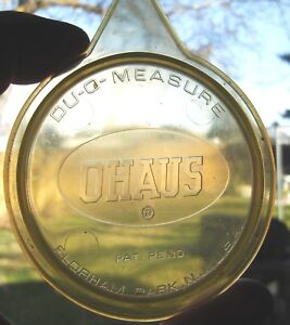 Ohaus Du-O-Measure RCBS stand and base plate a pistol measure and rifle measure