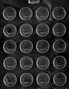 M122 Small Coins Chocolate Candy Mold w/instructions