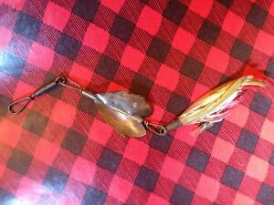 Vintage 1884 ANTIQUE CHAPMAN & SON  FISHING Tackle Spinner LURE Thepesa NY