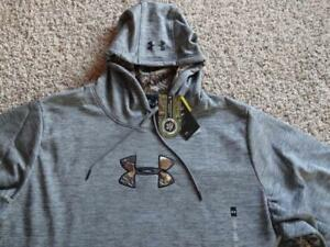 NEW Mens UNDER ARMOUR COLDGEAR STORM1 CALIBER Gray HOODIE    Size 3XLT-TALL