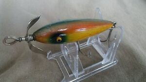 Old Vintage SOUTH BEND in RAINBOW COLOR SPIN  -I - DIDDEE  Wood LURE