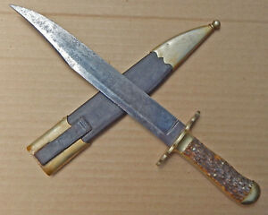 BIG Joseph RODGERS & Son Antique BOWIE KNIFE Circa 1850's Makers to QUEEN Vic