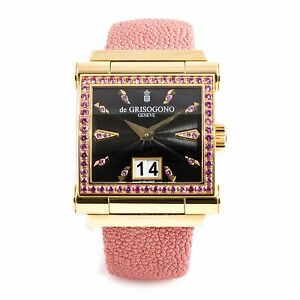 De Grisogono Grande 18 Kt Rose Gold Women's Automatic Luxury Dress Watch