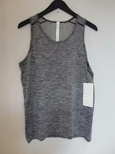 NWT LULULEMON BLKWHT Black White Metal Vent Tech Surge Tank Top Shirt Men's M