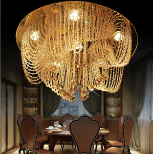 Modern minimalist Crystal Chandelier Villa crystal Light Ceiling lamp Lighting