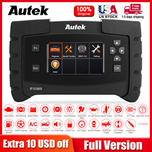 Autek IFIX969 Car Engine ABS airbag AT CVT BCM ESP DPF TPMS full systems scanner $299.00