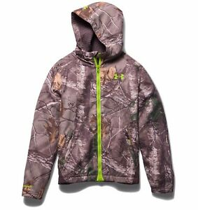Under Armour Boys' UA Storm Scent Control Barrier Jacket Realtree AP Large