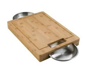 Napoleon Pro Carving/Cutting Board w/ Stainless Steel Bowls