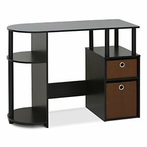 Computer Table Study Desk Stylish Functional Desk w Bin Drawers and CPU
