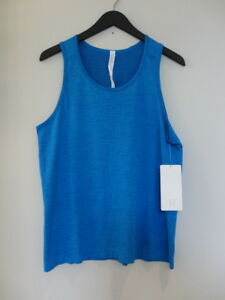 NWT LULULEMON CDAG Blue Sleeveless Metal Vent Tech Tank Top Shirt Men's Large L