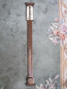 Antique English COMITTI & SON London Stick Barometer