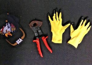 RATCHETING CABLE CUTTER BRAND NEW FREE HAT GLOVES FAST SHIP