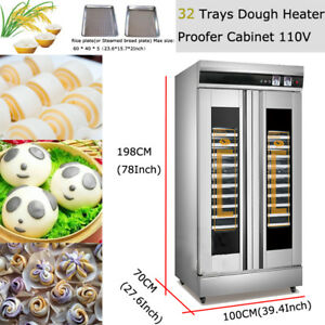 32Trays Dough Commercial Heater Proofer Cabinet with Stainless Steel Food Warmer