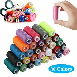 30 Colors 250 Yards Polyester Sewing Thread Spools For Sewing Machine Line $13.98