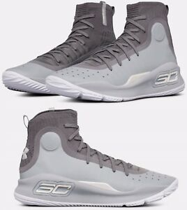 Under Armour Curry 4 Sneaker Men's Basketball Shoes Overcast Grey