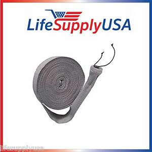 72PK 50FT KNITTED CENTRAL VACUUM HOSE SOCK COVER W APPLICATION TUBE (50 FEET)