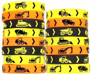Construction Party Supplies 15 Construction Themed Silicone Wristbands