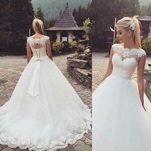 New WhiteIvory Wedding dress Bridal Gown Stock Size 4-6-8-10-12-14-16++++++