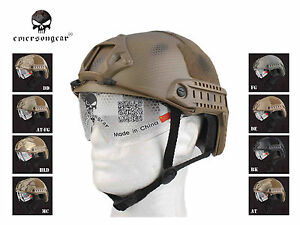 Emerson Combat Fast Helmet MH Type Airsoft Hunting Tactical Helmet with Goggle