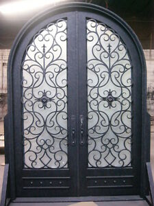 Hand-Crafted 12 Gauge Wrought Iron Entry Doors by Monarch Custom Doors 72