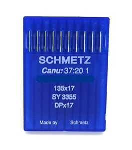 10 SCHMETZ 135X17 SIZE #24 180 INDUSTRIAL SEWING MACHINE NEEDLES DPX17 SY3355 $6.05
