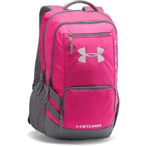 Under Armour 1263964-654 Storm Hustle II Backpack - Hot Pink - Water-Resistant