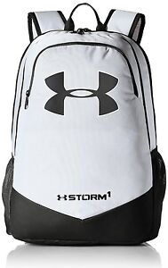 Under Armour UA Storm Scrimmage Backpack White Camp Sport Travel School Bag