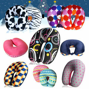 Micro Beads U Shaped Travel Neck Pillow Head Neck Cervical Sleep Support Cushion