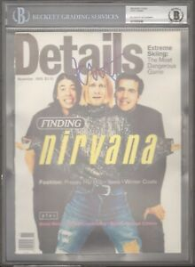 KURT COBAIN Nirvana Signed Magazine Cover JSA PSADNA Graded BECKETT BAS 10 Slab
