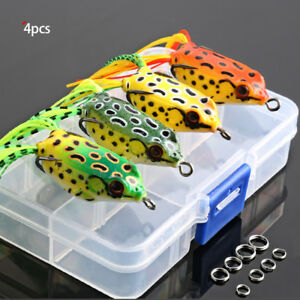 4Pcs 6g 9g 13g Large Frog Topwater Fishing Lure Crankbait Hooks Bass Bait Tackle