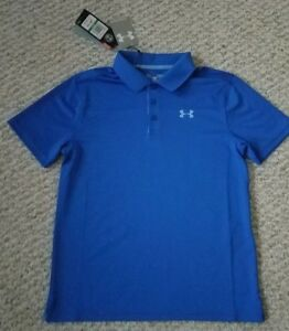 Under Armour Heat Gear Golf NEW wTags Youth Boys Polo Shirt Youth Size L