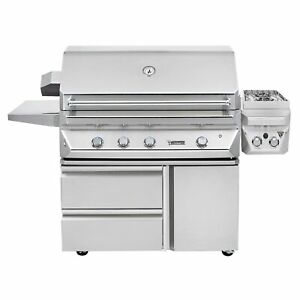 Twin Eagles 42-Inch Propane Gas Grill On Cart With Infrared Rotisserie And 13-In