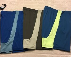 New Nike Dri-Fit Mens Size Medium Gym Basketball Shorts Lot Of 3 Blue
