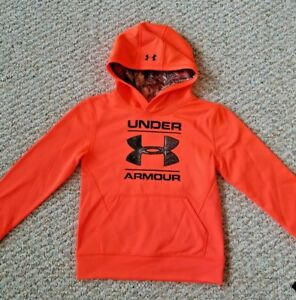 Under Armour NEW wTags Youth Orange wRealtree Camo Hoodie Size 7