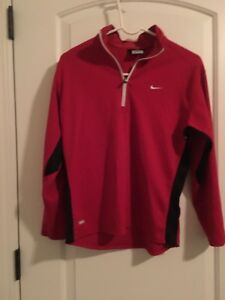 NIKE Dri Fit Big Kids 14 Zip Front Shirt Athletic Top Sz L 14-16 MultiColor
