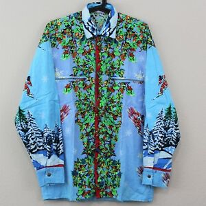 VTG Giani Versace Sport Rare Ski Collared Button Up Long Sleeve Shirt Mens 46 C