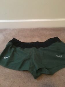 NFL Team Apparel New York Jets Nike Dri-Fit Women's Lined Shorts MultiColor Sz X