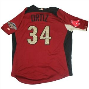 David Ortiz Signed Majestic American League 2011 All Star Game Jersey Sure Shot