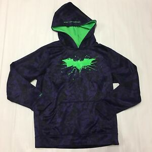 Under Armour Boys Batman The Joker Sweatshirt Hoodie Size M Activewear DC Comics