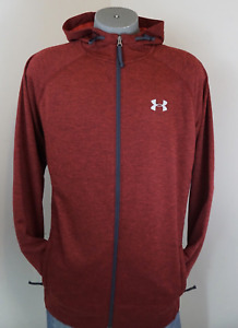 Under Armour ColdGear Hoodie Zip Front Maroon Running XLT Xtra Large Tall $60