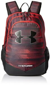 Under Armour UA Storm Scrimmage Backpack Red Black Sports School Bag