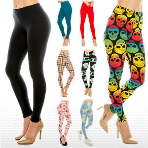 Womens Buttery Ultra Soft Premium Leggings Patterned and Solid *FREE SHIPPING*