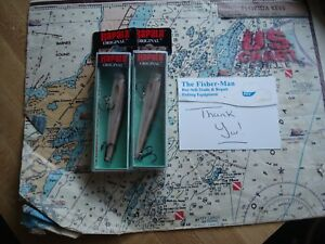 2 RAPALA F-9 LIVE SMELT FLOATING FISHING LURES NEW IN PACKAGES