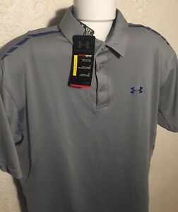 Under Armour UA Front9 Vented SS Polo Golf Shirt Gray NEW Men's XL NWT $70