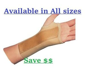 PROCARE ELASTIC WRIST BRACE W METAL STAY CARPAL TUNNEL SUPPORT ALL SIZES $10.97
