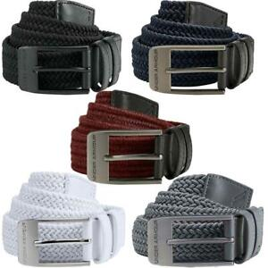 UNDER ARMOUR 2020 MENS 2.0 BRAIDED STRETCH FIT WOVEN ELASTICATED GOLF BELT $31.13