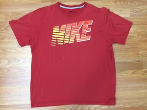 Mens red NIKE Dry Fit graphic athletic sports T-Shirt Size XL Extra Large