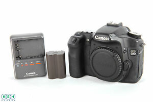 Canon EOS 50D 15.1mp  Body With Battery and Charger Shutter Count 65884