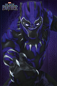 BLACK PANTHER MARVEL MOVIE POSTER PRINT GLOW SIZE: 24quot; x 36quot;